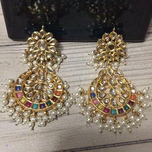 Gorgeous Kundan style Bollywood Earrings !!